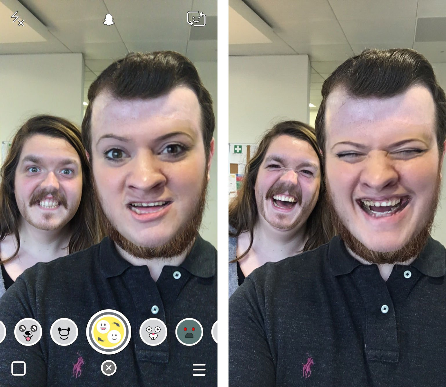 how to face swap snapchat