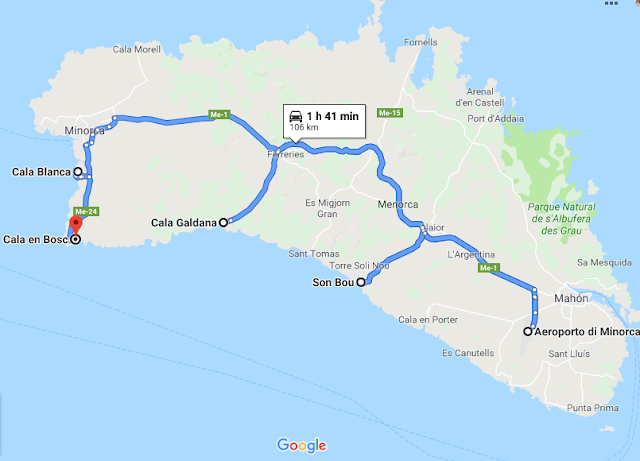minorca mappa città