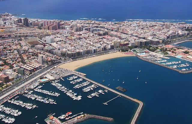 Vista aérea de Las Palmas de Gran Canaria