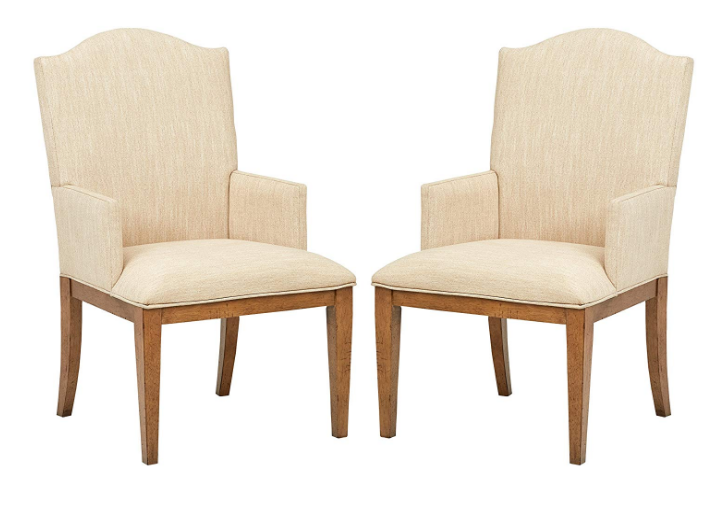 "Stone & Beam Parson Dining Chairs, 40""H, Set of 2, Beige"
