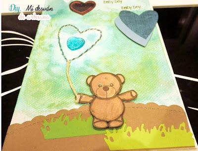 Tarjeta azul baby boy