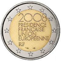 EU:n puheenjohtajuus Ranska 2008 kolikko