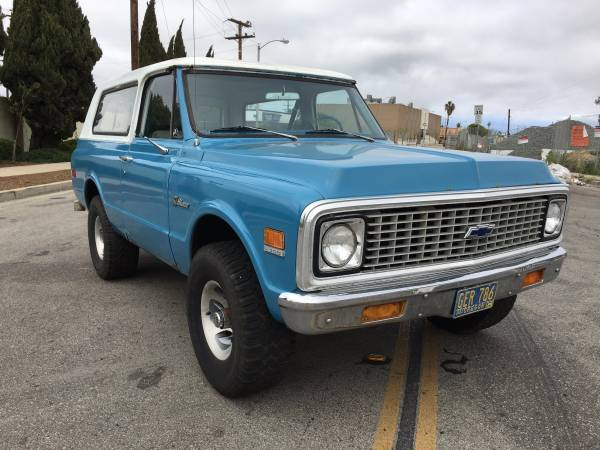 1971 Chevrolet Blazer 4x4 For Sale