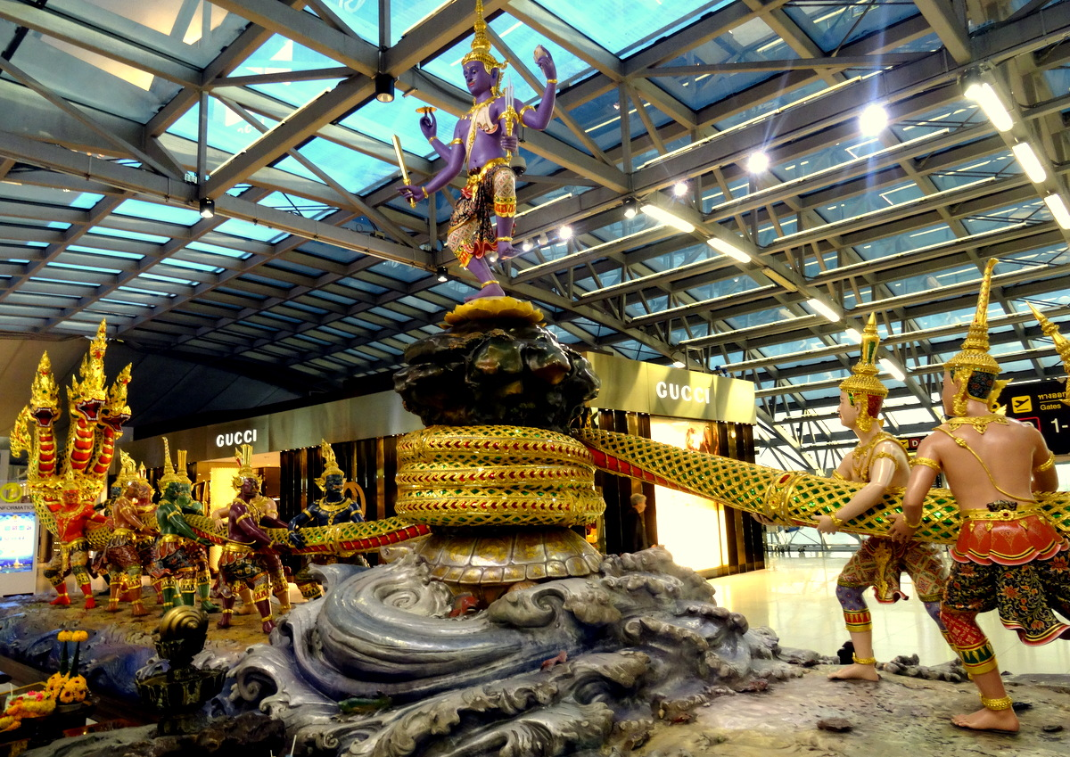 Bangkok, Thailand: The Story Behind the Impressive Serpent Statue at