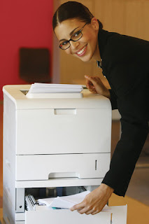 woman printer office worker
