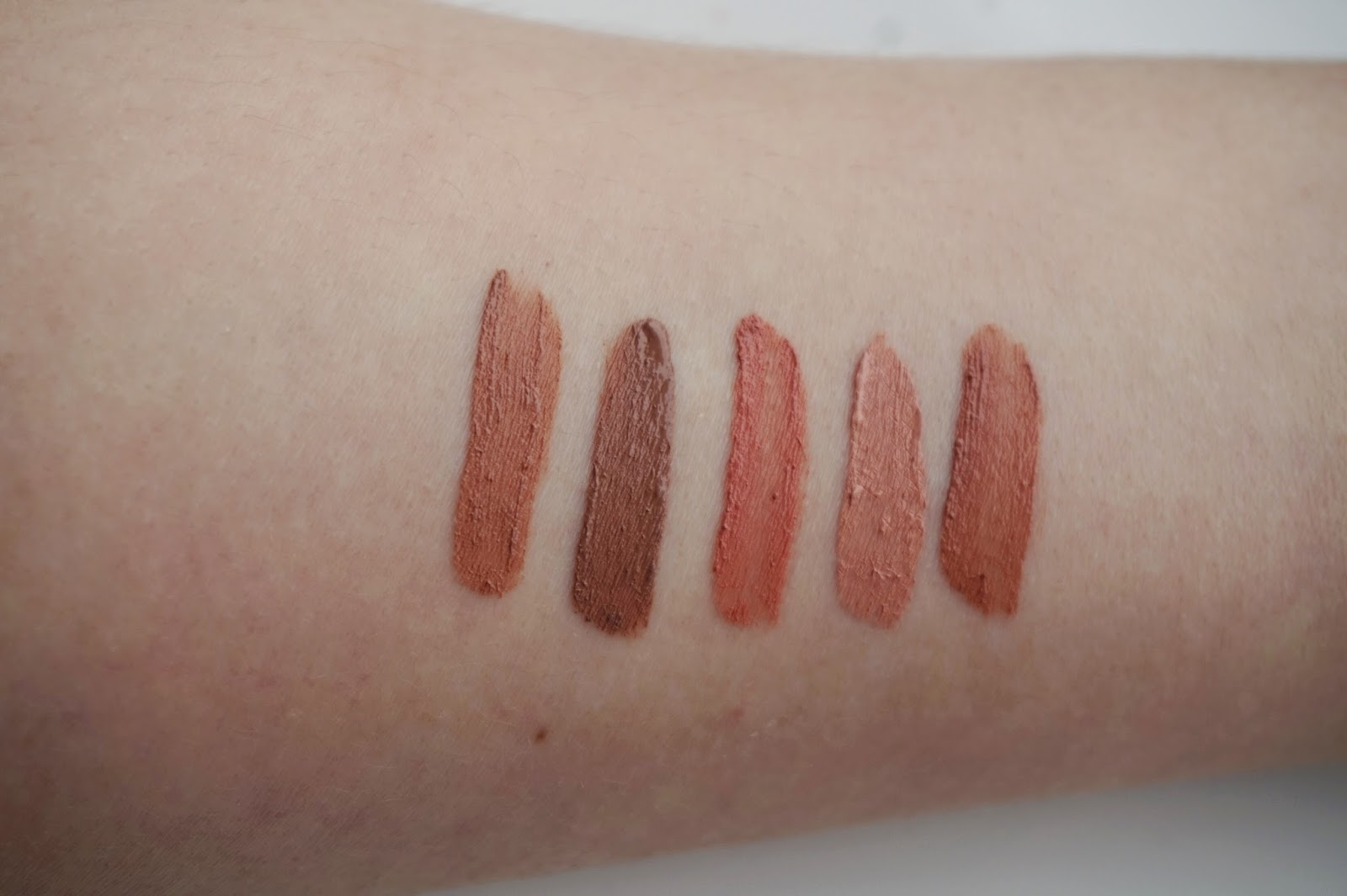 NYX Lip Product Swatches