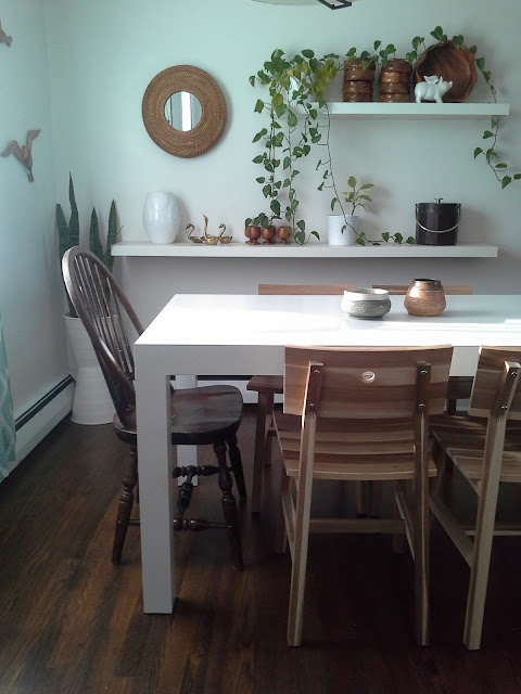 Ikea Skogsta Chair Parsons Dining Table