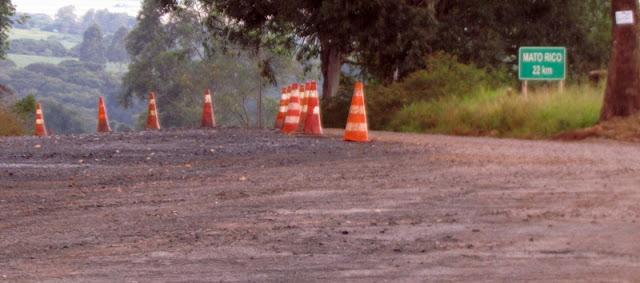 Começaram as obras do asfalto para Mato Rico? Não. Não foi dessa vez!
