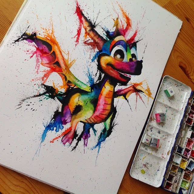 20-Spyro-the-Dragon-Lisa-Marie-Melin-LittleGeekyFanArt-Fan-Art-Comic-Manga-and-Video-Game-Paintings-www-designstack-co