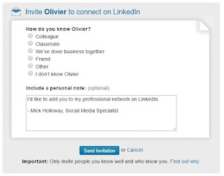 LinkedIn only let you connect with people you know in some way