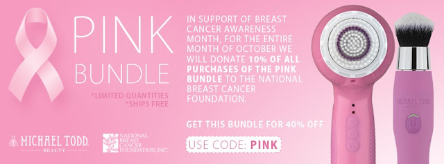 Michael todd beauty pink bundle for breast cancer by barbies beauty bits