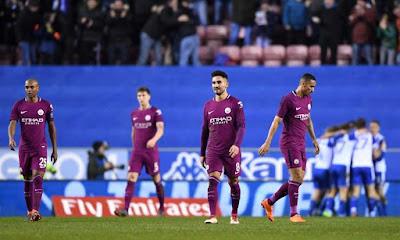 خروج غير متوقع لمانشستر سيتي من كأس إنجلترا أمام ويجان