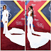 Fashion  Photos/Video: Elise Neal steps out in a white jumpsuit that has a train for the 2016 Soul Train Awards
