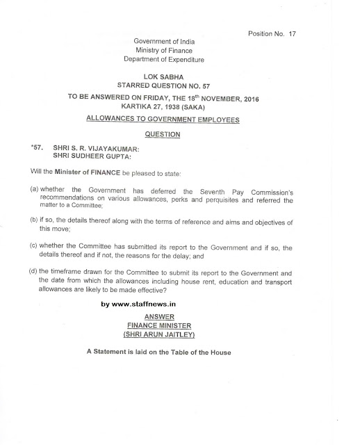 7thcpc-allowances-loksabha-question-english