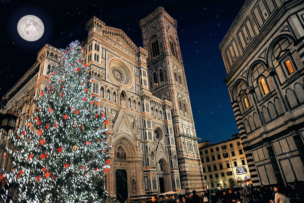 Christmas At Santa Maria Del Fiore In Florence Italy Photo Any Color You