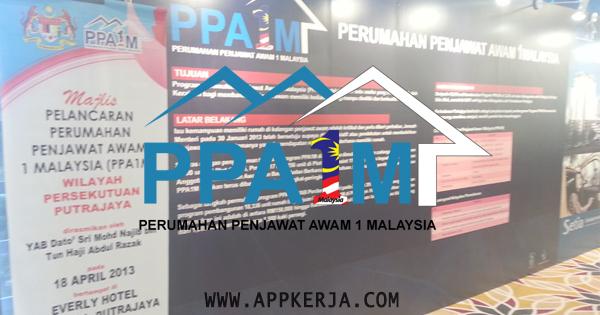 Jawatan Kosong di Perumahan Penjawat Awam Malaysia (PPA1M) - 25 Mei 2018
