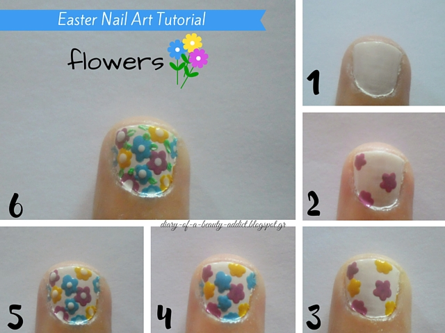 Flowers Nail Art Tutorial