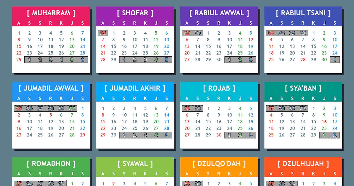 Kalender Hijriyah Online: 1441