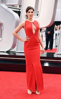 Nargis Fakhri in Red Dress at SPY Movie Premiere