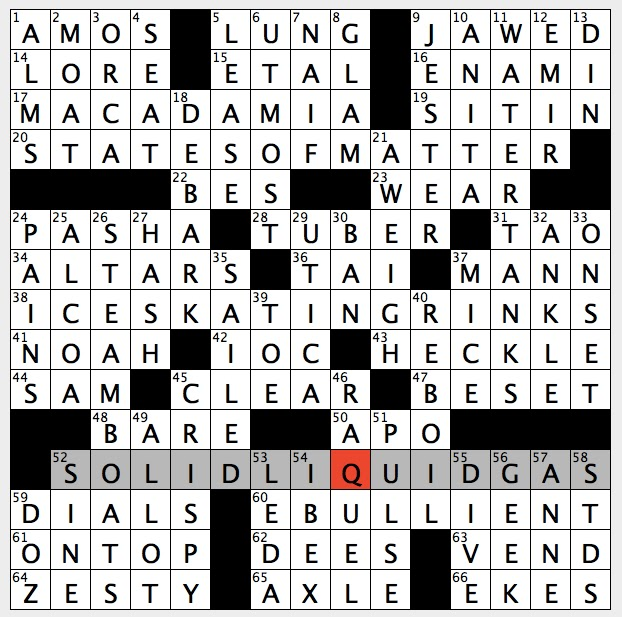 rex parker does the nyt crossword puzzle: go down gangplank / tue 3 ...