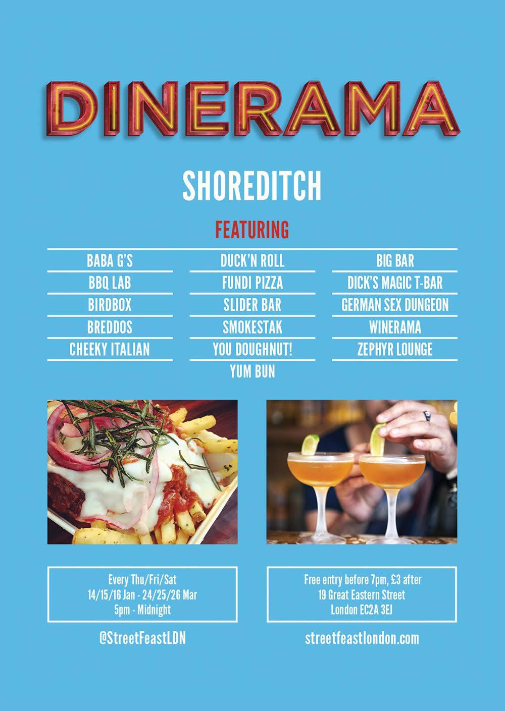 Dinerama Shoreditch: London Pop-ups: Dinerama In Winter