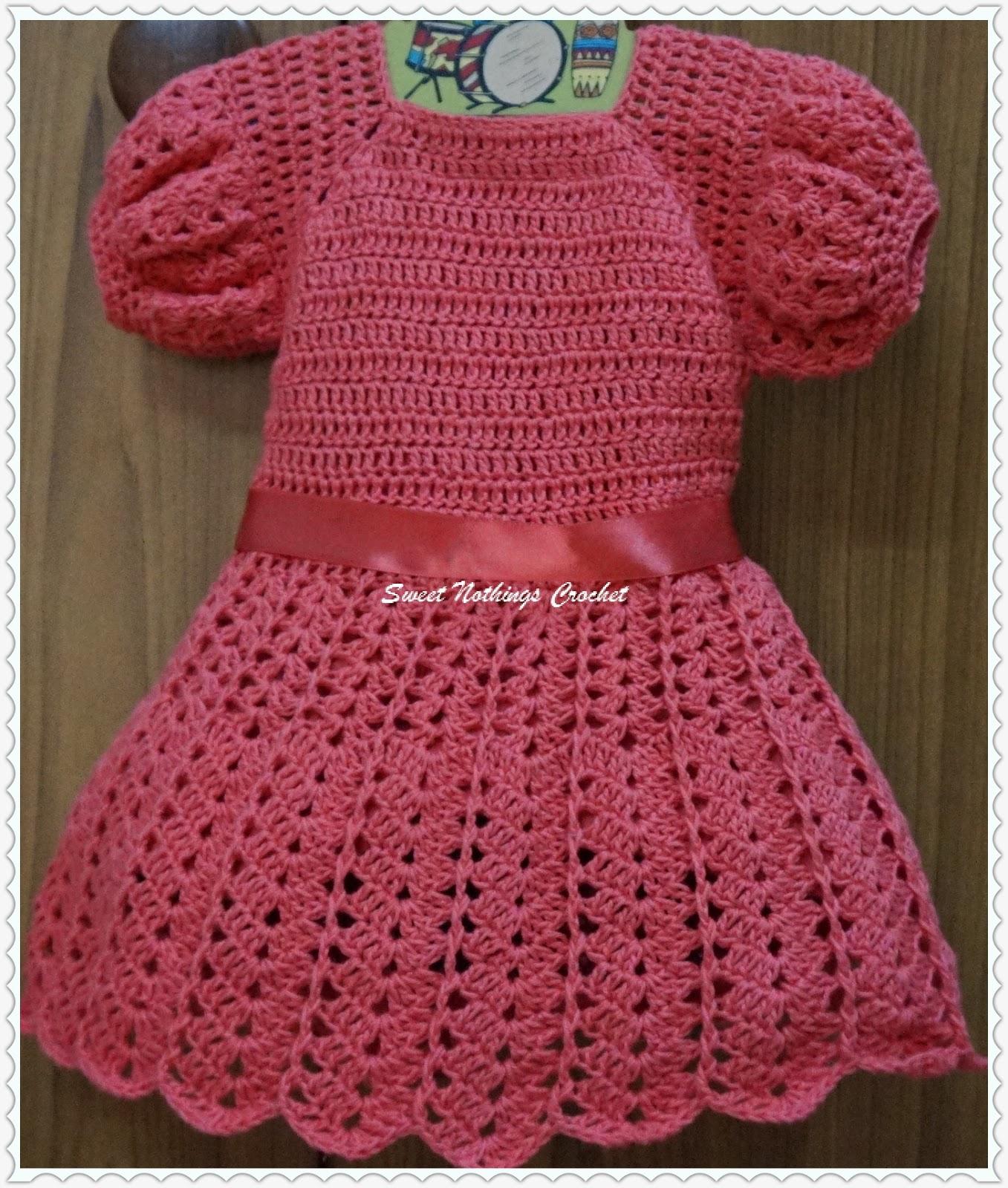 9ede453f9 Sweet Nothings Crochet  CHANDU s SHELLED BABY DRESS 2
