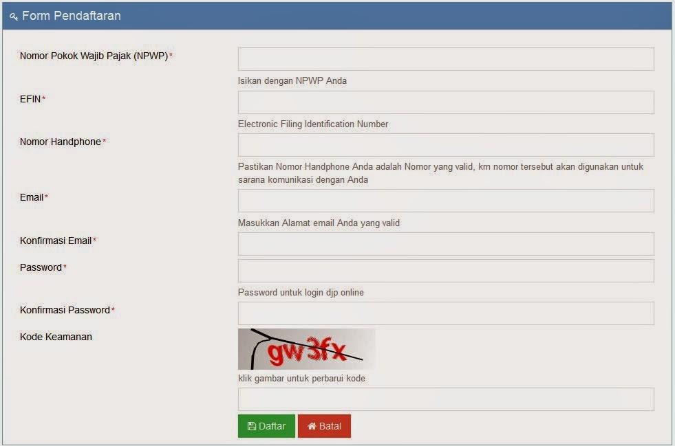 Pendaftaran e Filing Pajak DJP Online