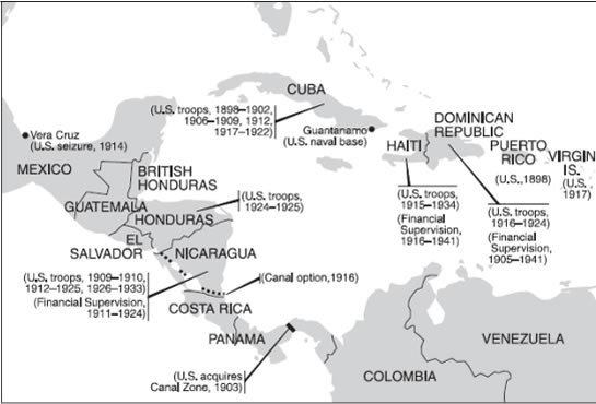 U.S. Interventions in Latin American