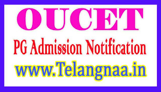 OUCET 2017 PG Admission Notification 2017