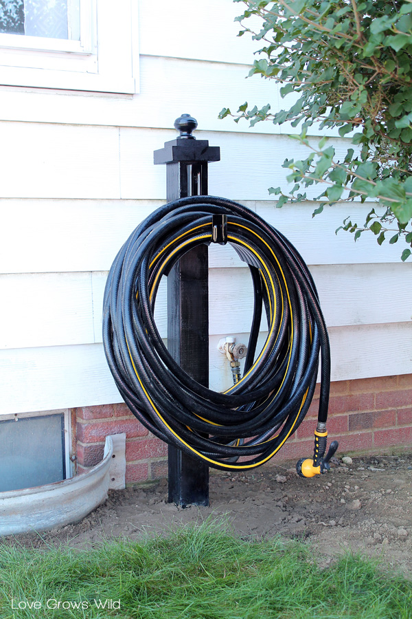 DIY Garden Hose Holder - Love Grows Wild