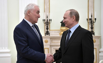 Vladimir Putin and President of South Ossetia Leonid Tibilov.