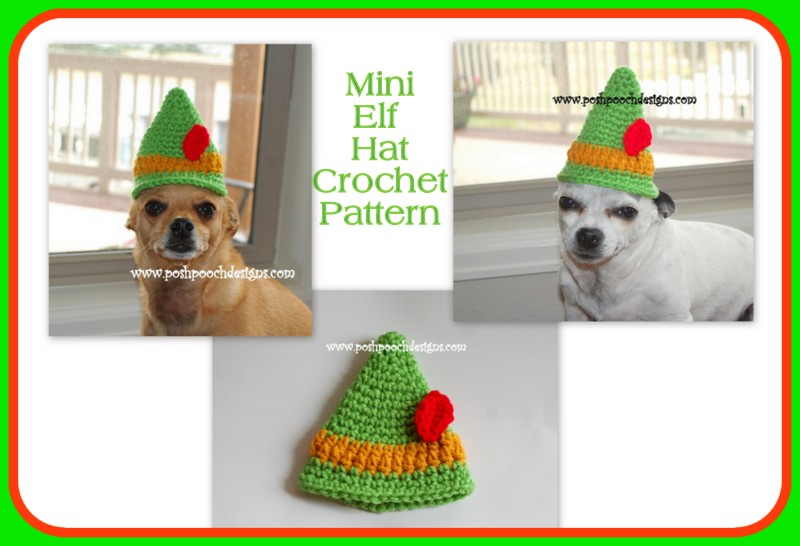 Posh Pooch Designs Dog Clothes: Elf Hat Crochet Pattern for Youth ...
