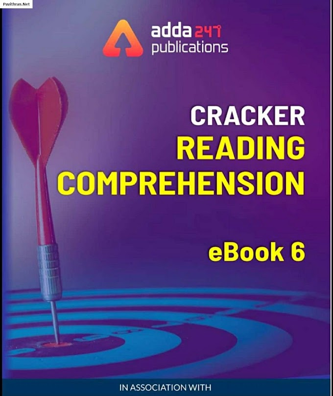 Cracker Reading Comprehension eBook by adda247 PDF Download
