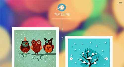 Timeline Responsive Blogger Template