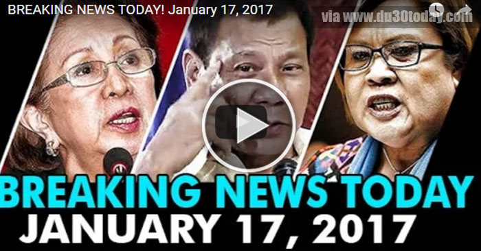 BREAKING NEWS TODAY! January 17, 2017