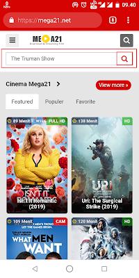Jika halaman sudah terbuka Sobat langsung ketikkan judul film yang akan Sobat download di kolom pencarian. Jika sudah Sobat klik enter atau logo pencarian.
