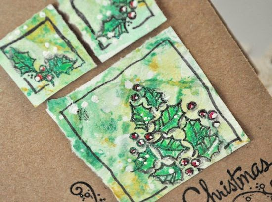 Close-up of MIX97 challenge card for Splitcoaststampers forum
