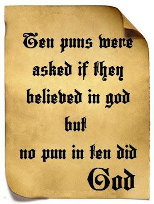 No pun in ten did funny religious pun