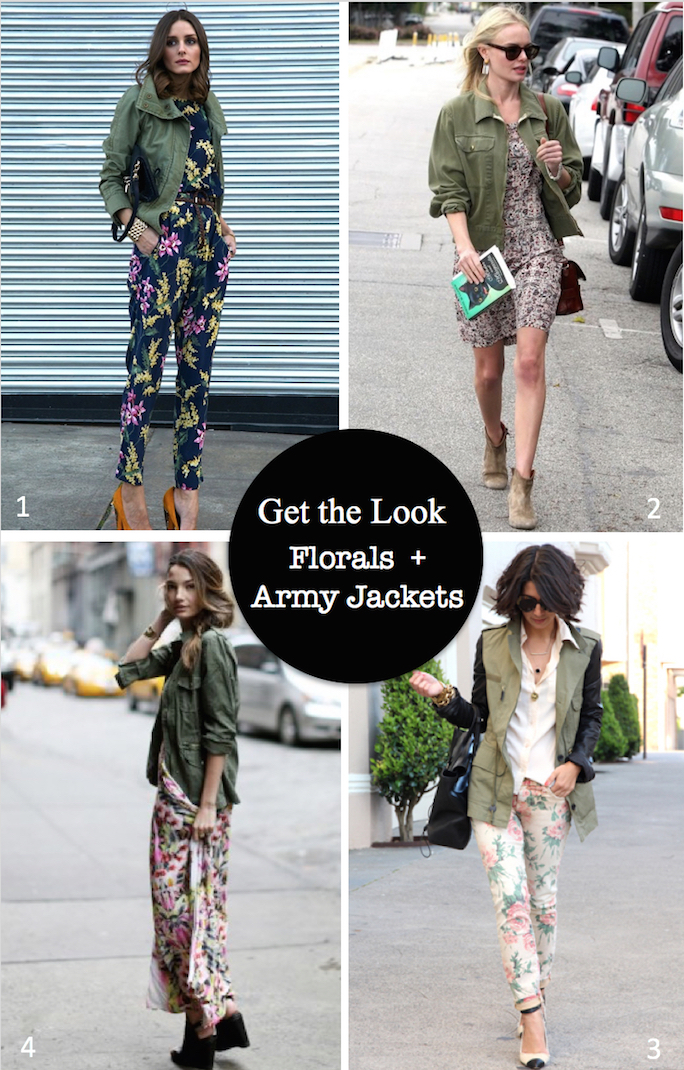 celebrity style - army jackets