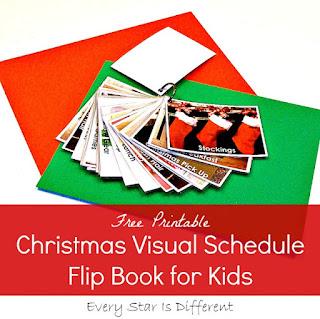 Christmas visual schedule flip book