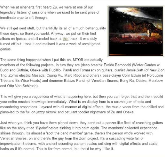 Metallic Taste of Blood Reviews (Part 2) 4
