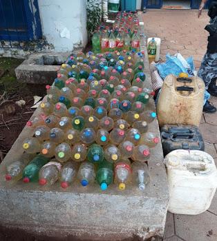 Polícia Militar prende duas pessoas e 180 litros de gasolina boliviana em Guajará-Mirim