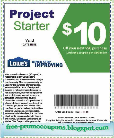 lowes coupon online
