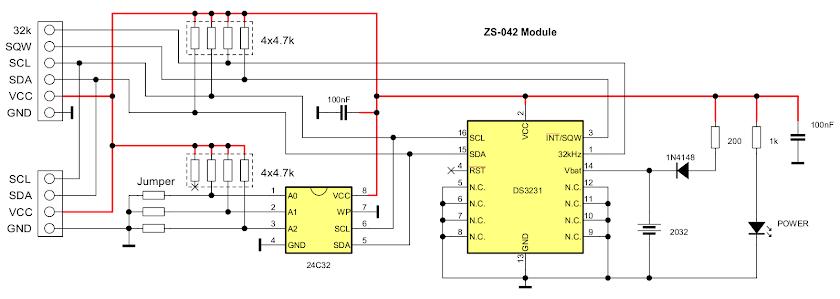 ZS-042 RTC Module schematic