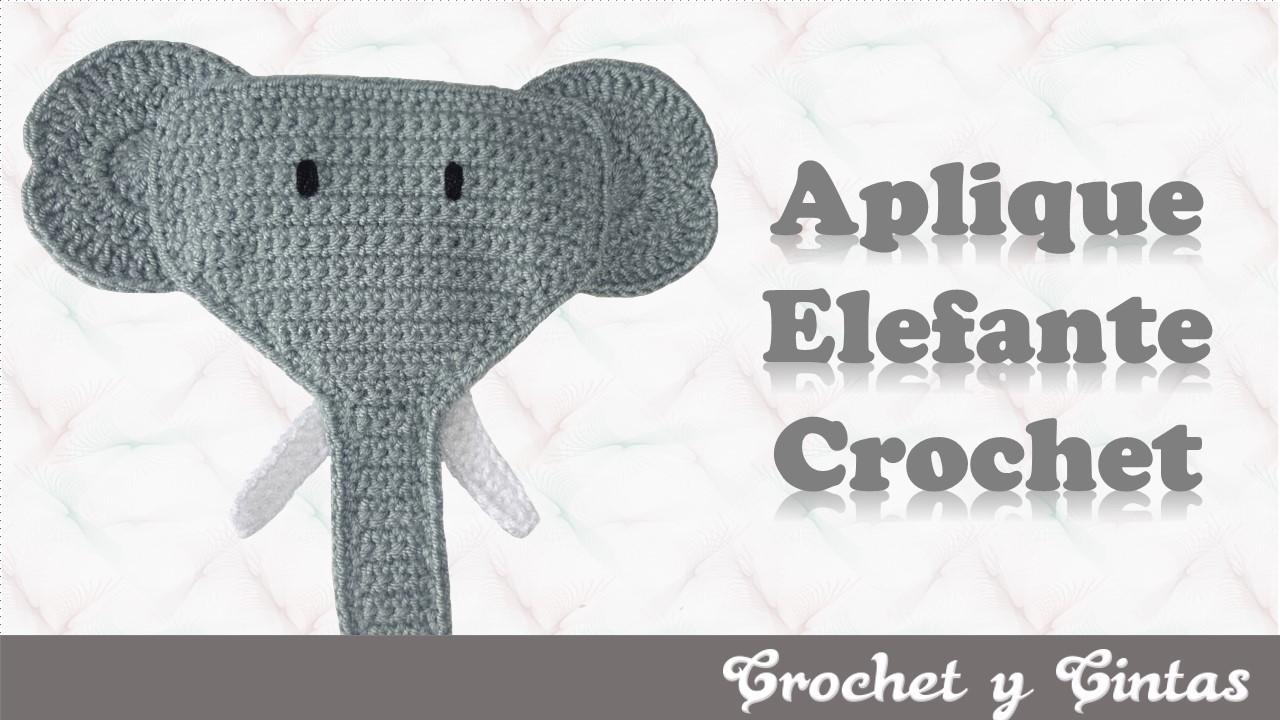 Aplique elefante a crochet (ganchillo) ~ Crochet y Cintas