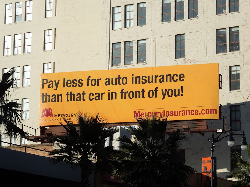 Mercury Auto Insurance billboard