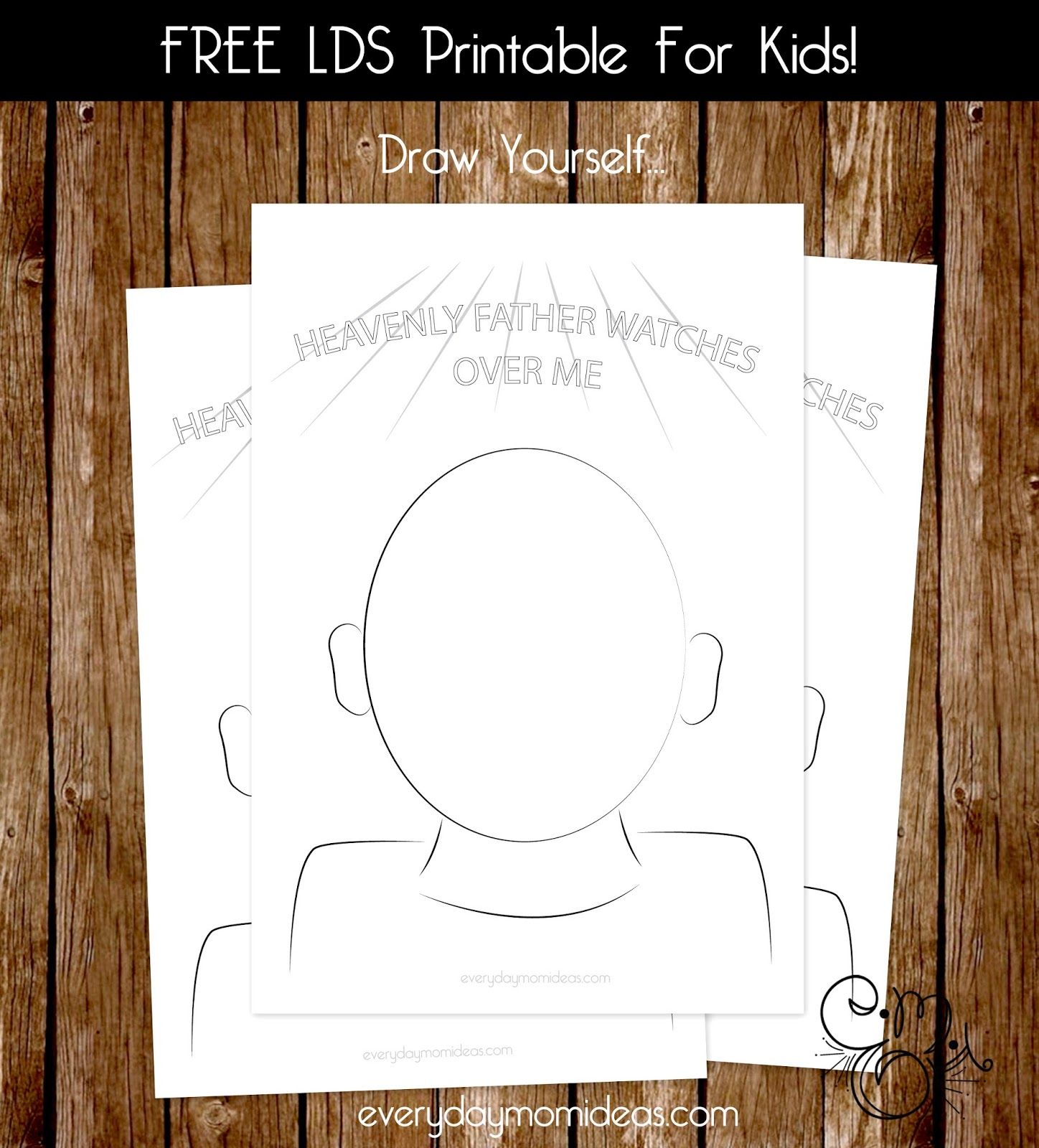 Lds Printable For Kids Heavenly Father Watches Over Me