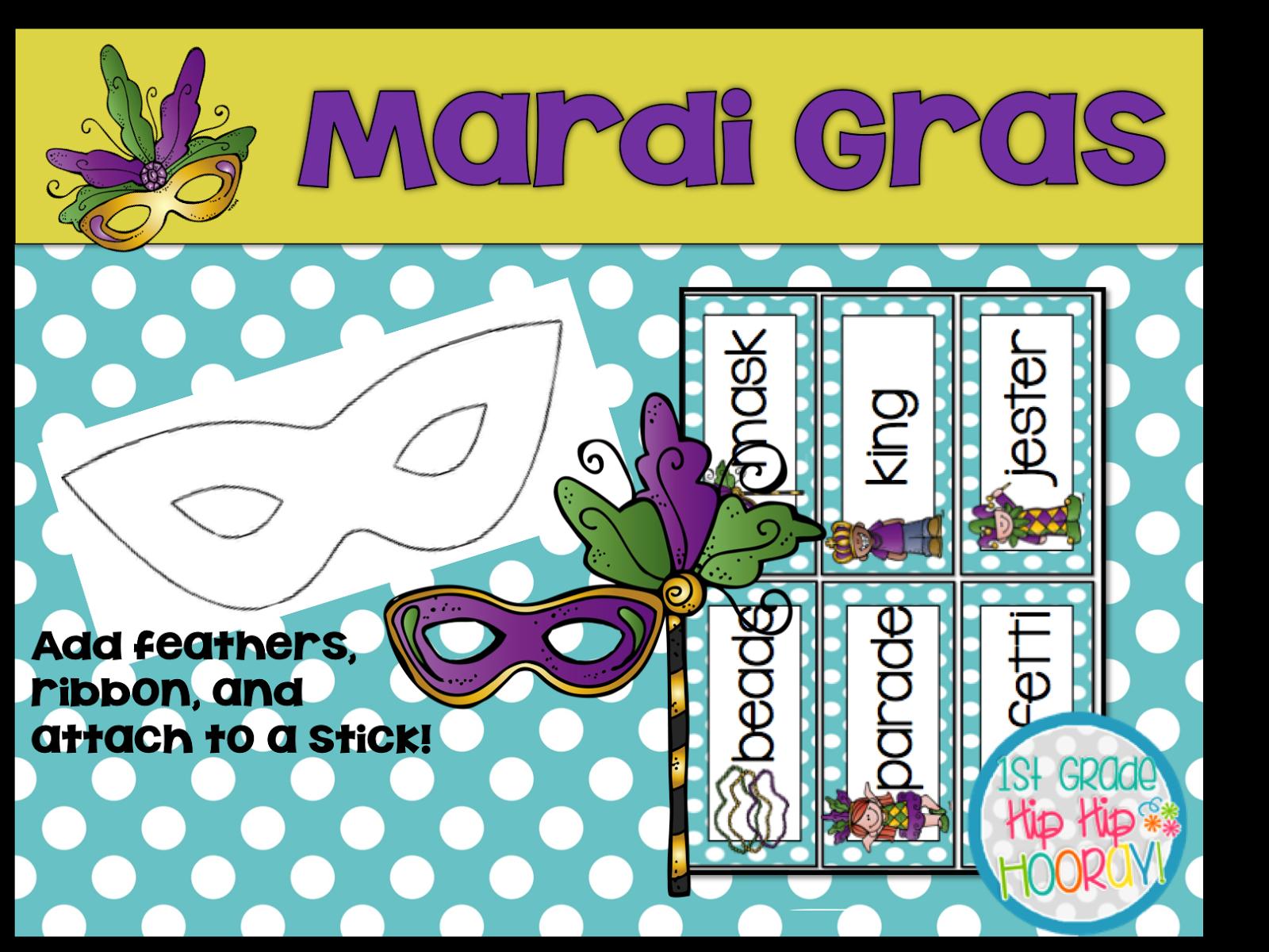 1st Grade Hip Hip Hooray!: Mardi Gras...February 28th!