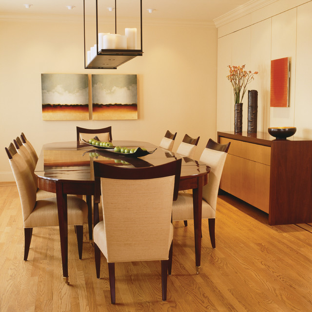 Attractive View of the Dining Room with Dining Room Tables And Chairs from Wood on Hardwood Floor