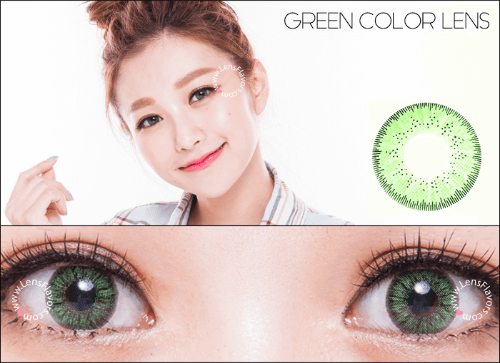gg gbt green circle lenses